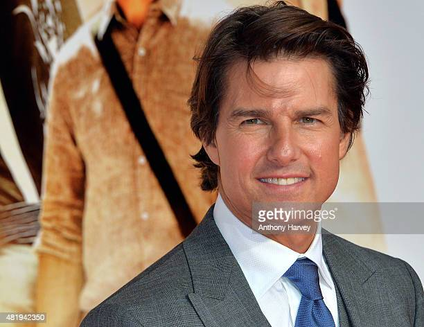Tom Cruise attends an exclusive screening of 'Mission Impossible Rogue Nation' at BFI IMAX on July 25 2015 in London England