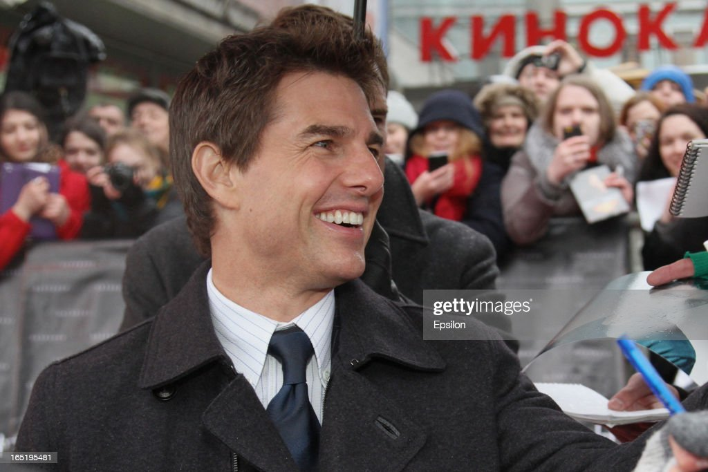 Tom Cruise attends the attend the film premiere of 'Oblivion' at the Oktyabr cinema hall on April 1, 2013 in Moscow, Russia.