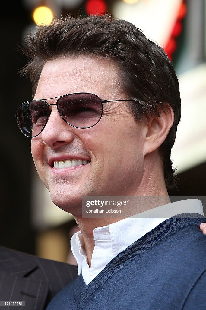 Tom Cruise attends the ceremony honoring Jerry Bruckheimer with a Star on The Hollywood Walk of Fame held in front of El Capitan Theatre on June 24, 2013 in Hollywood, California.