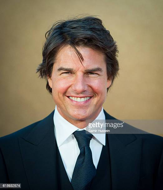 Tom Cruise attends the European premiere of 'Jack Reacher Never Go Back' at Cineworld Leicester Square on October 20 2016 in London England