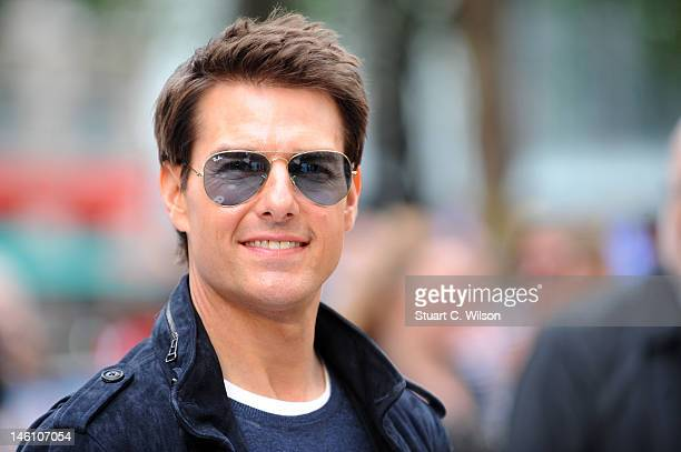Tom Cruise attends the European premiere of 'Rock Of Ages' at Odeon Leicester Square on June 10 2012 in London England