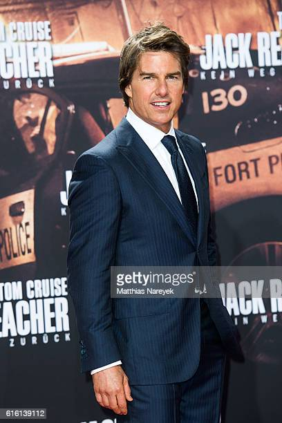 Tom Cruise attends the 'Jack Reacher Never Go Back' Berlin Premiere at CineStar Sony Center on October 21 2016 in Berlin Germany