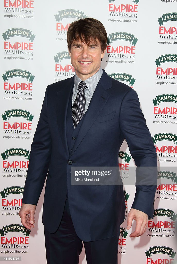 <a gi-track='captionPersonalityLinkClicked' href=/galleries/search?phrase=Tom+Cruise&family=editorial&specificpeople=156405 ng-click='$event.stopPropagation()'>Tom Cruise</a> attends the Jameson Empire Film Awards at Grosvenor House, on March 30, 2014 in London, England.