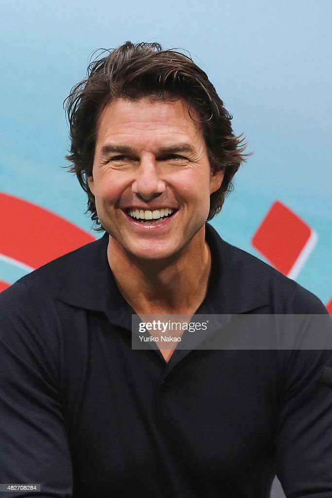 <a gi-track='captionPersonalityLinkClicked' href=/galleries/search?phrase=Tom+Cruise&family=editorial&specificpeople=156405 ng-click='$event.stopPropagation()'>Tom Cruise</a> attends the Japan Press Conference of 'Mission: Impossible - Rogue Nation' at the Peninsula Hotel Ballroom on August 2, 2015 in Tokyo, Japan.