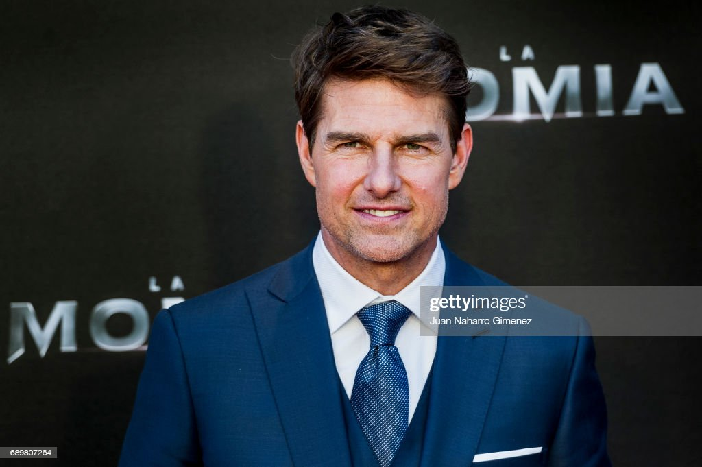 Tom Cruise attends 'The Mummy' premiere at Callao Cinema on May 29, 2017 in Madrid, Spain.