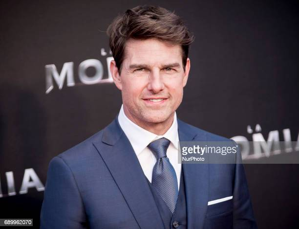 Tom Cruise attends 'The Mummy' premiere at Callao Cinema on May 29 2017 in Madrid Spain