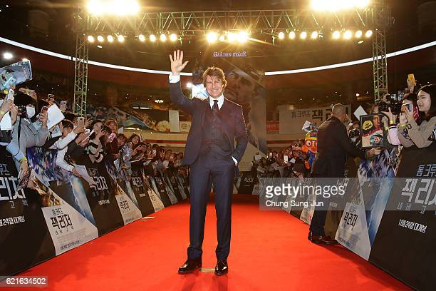 Tom Cruise attends the Paramount Pictures 'Jack Reacher Never Go Back' Seoul Premiere at the Lotte World Mall on November 7 2016 in Seoul South Korea