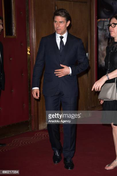 Tom Cruise attends the premiere for 'The Mummy' at Le Grand Rex in Paris France on May 30 2017