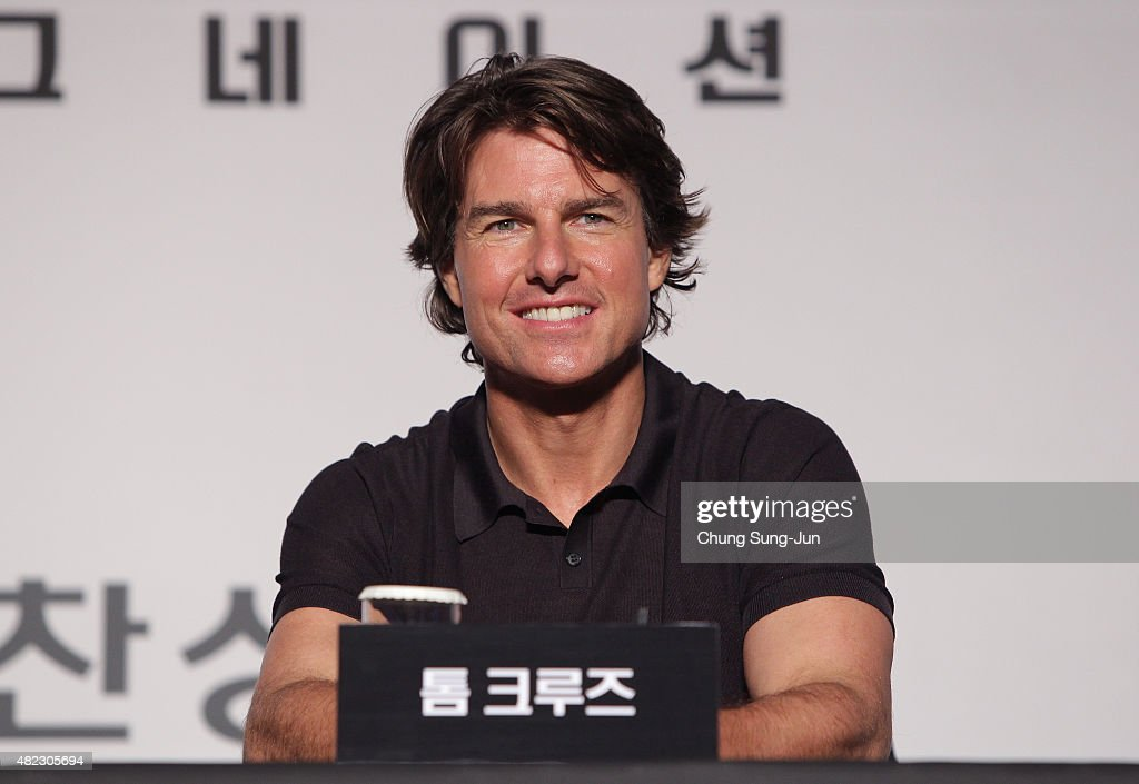 <a gi-track='captionPersonalityLinkClicked' href=/galleries/search?phrase=Tom+Cruise&family=editorial&specificpeople=156405 ng-click='$event.stopPropagation()'>Tom Cruise</a> attends the Press Conference and Photocall of 'Mission: Impossible - Rogue Nation' at the Grand Intercontinental Seoul Hotel at on July 30, 2015 in Seoul, South Korea.