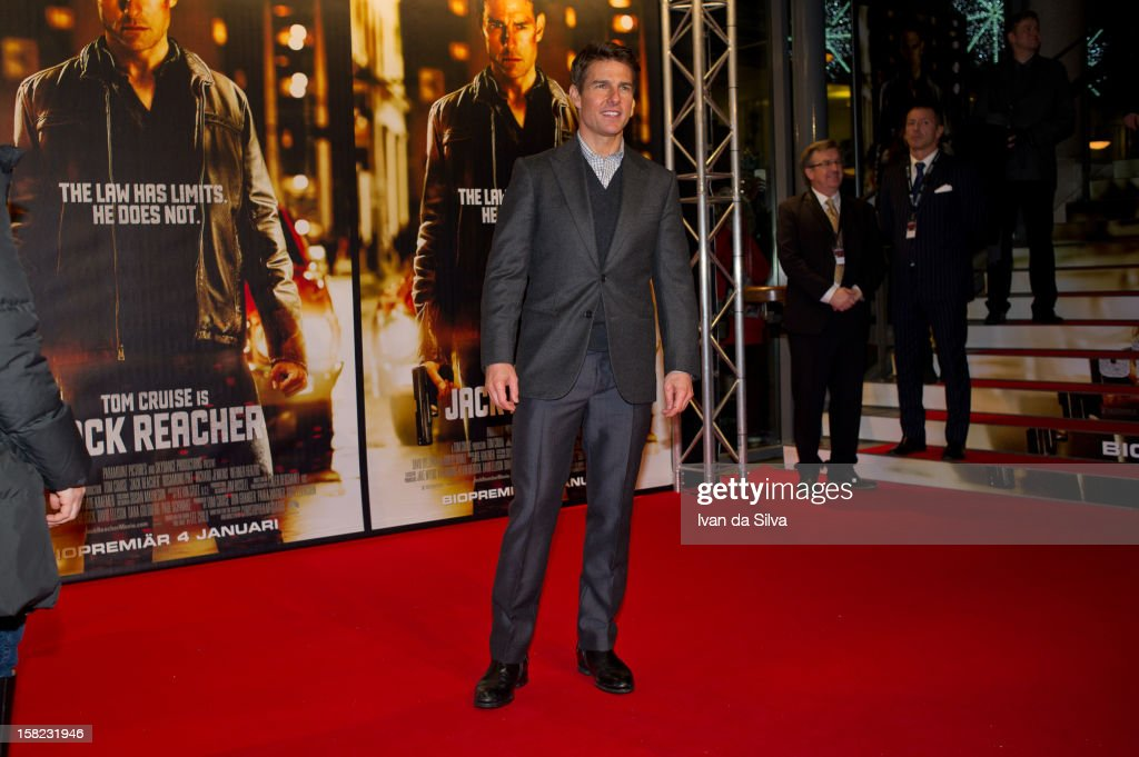 Tom Cruise attends the Swedish Premiere of 'Jack Reacher' at Multiplex Sergel on December 11, 2012 in Stockholm, Sweden.