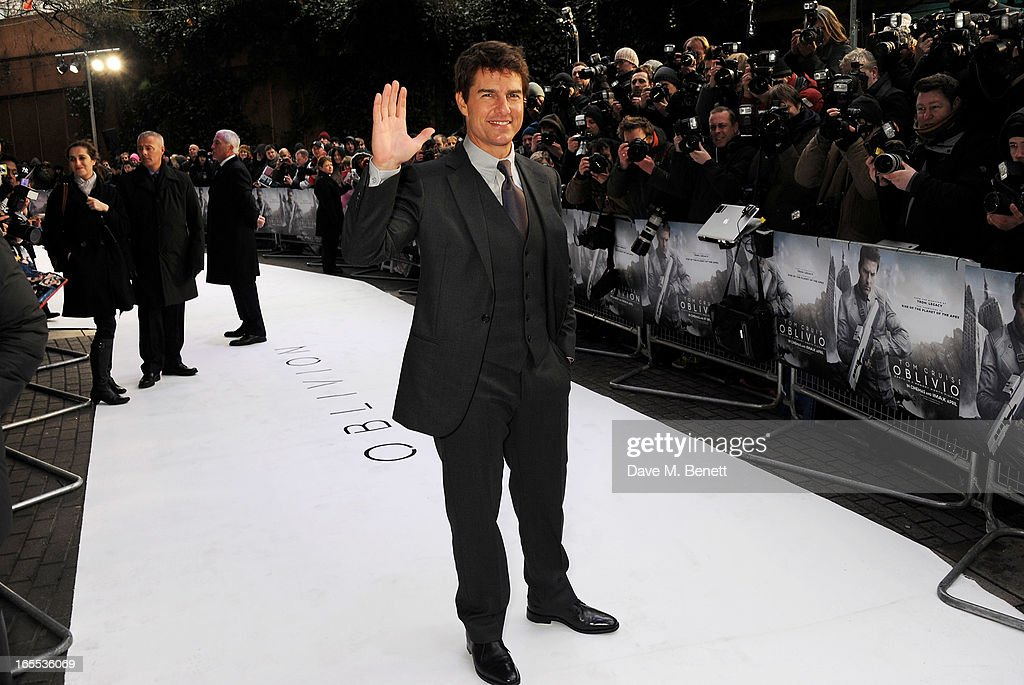 <a gi-track='captionPersonalityLinkClicked' href=/galleries/search?phrase=Tom+Cruise&family=editorial&specificpeople=156405 ng-click='$event.stopPropagation()'>Tom Cruise</a> attends the UK Premiere of 'Oblivion' at BFI IMAX on April 4, 2013 in London, England.
