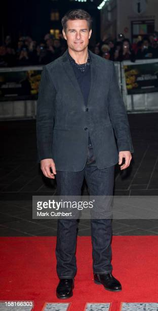 Tom Cruise attends the world premiere of 'Jack Reacher' at Odeon Leicester Square on December 10 2012 in London England