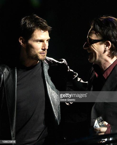 Tom Cruise Bono during First Annual Entertainment Industry Foundation 'Love Rocks' Concert to Honor U2's Bono and Launch EIF'S National...