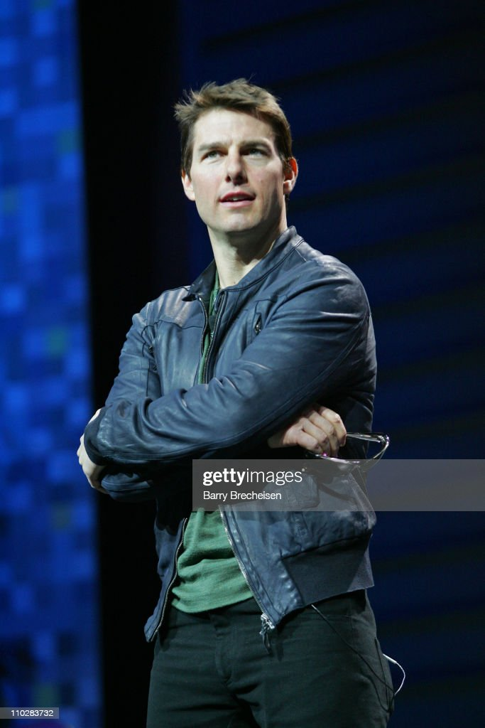Tom Cruise during 2006 International Consumer Electronics Show Keynote Address with Terry Semel at Las Vegas Convention Center in Las Vegas Nevada...