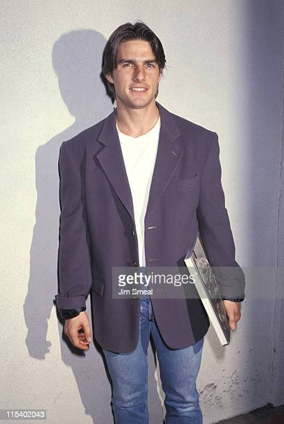 Tom Cruise during Herb Ritts Exhibition Opening October 22 1992 at Fahey/Klein Gallery in West Hollywood California United States
