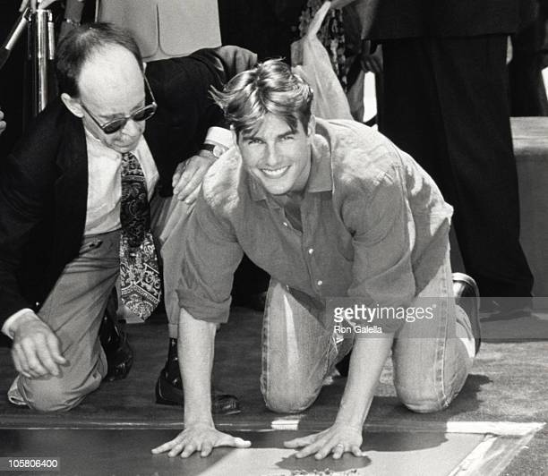 Tom Cruise during Tom Cruise Handprint Ceremony in Hollywood at Mann's Chinese Theater in Hollywood California United States