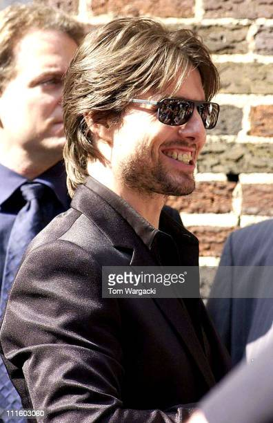 Tom Cruise during Tom Cruise Visits the 'Late Show with David Letterman' June 17 2002 at Ed Sullivan Theater in New York City New York United States