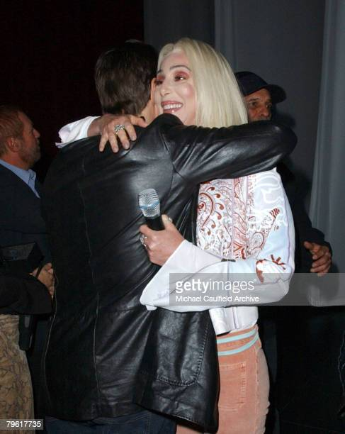Tom Cruise hugs Cher after her performance