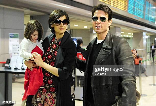 Tom Cruise Katie Holmes and Suri Cruise sighting at Narita International Airport on March 8 2009 in Narita Chiba Japan
