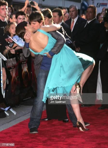 Tom Cruise kissing Katie Holmes
