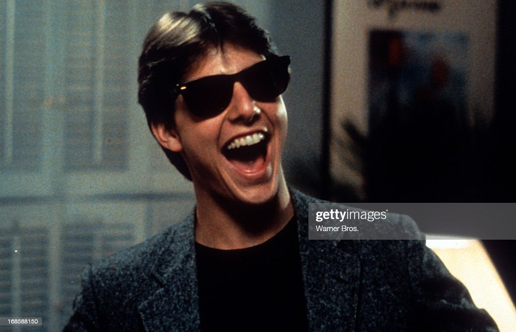Tom Cruise laughs in a scene from the film 'Risky Business' 1983