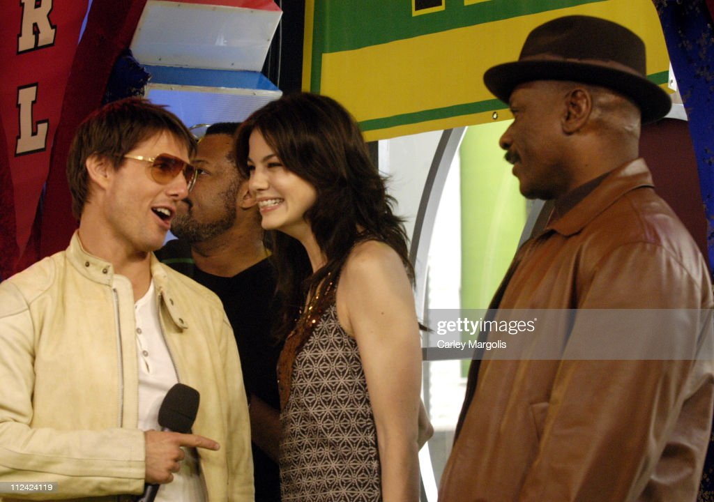 Tom Cruise Michelle Monaghan and Ving Rhames during Tom Cruise Laurence Fishburne Ving Rhames Keri Russell Michelle Monaghan Jonathan Rhys Meyers and...