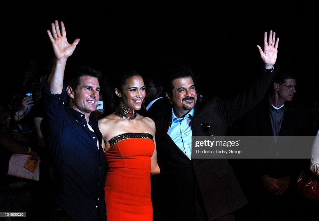 Tom Cruise, Paula Patton and Anil Kapoor at the special screening of his upcoming movie Mission Impossible-Ghost Protocol at Wadala IMAX in Mumbai.