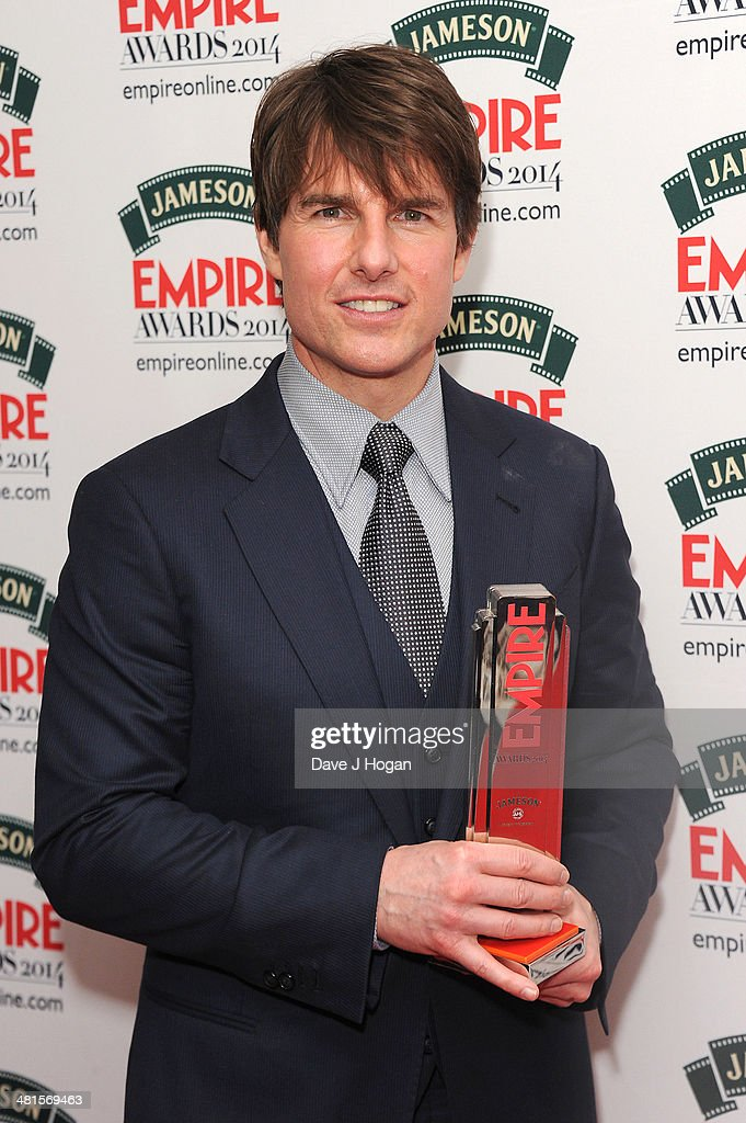 <a gi-track='captionPersonalityLinkClicked' href=/galleries/search?phrase=Tom+Cruise&family=editorial&specificpeople=156405 ng-click='$event.stopPropagation()'>Tom Cruise</a> poses in the press room at the Jameson Empire Film Awards 2014 at The Grosvenor House Hotel on March 30, 2014 in London, England.