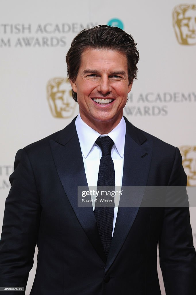 <a gi-track='captionPersonalityLinkClicked' href=/galleries/search?phrase=Tom+Cruise&family=editorial&specificpeople=156405 ng-click='$event.stopPropagation()'>Tom Cruise</a> poses in the winners room at the EE British Academy Film Awards at The Royal Opera House on February 8, 2015 in London, England.