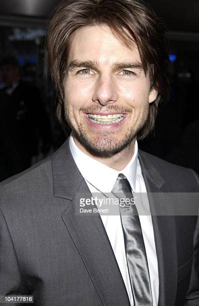 Tom Cruise Shows Off His Brace 'Minority Report' Premiere At The Odeon Leicester Sq London