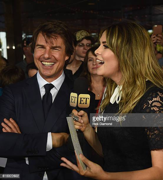 Tom Cruise talks with ET's Carly Steel during 'Jack Reacher Never Go Back' Variety The Children's Charity Of Eastern Tennessee Benefit Screeningon...