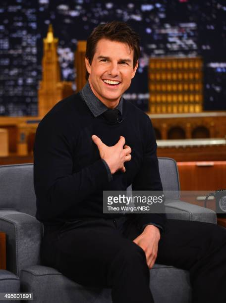 Tom Cruise visits 'The Tonight Show Starring Jimmy Fallon' at Rockefeller Center on June 4 2014 in New York City
