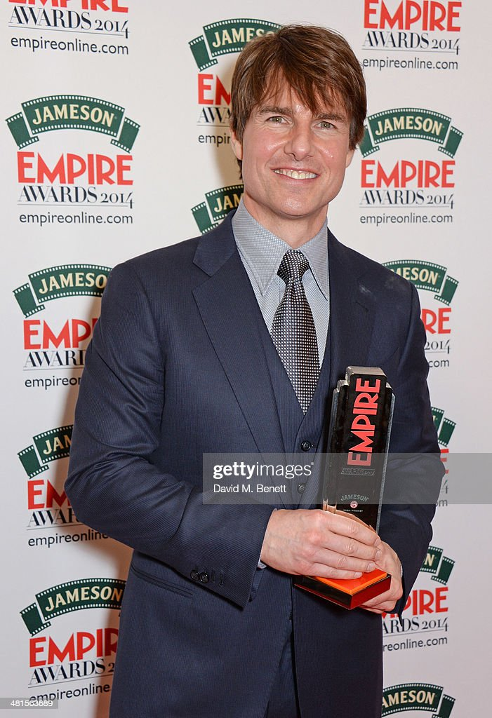 <a gi-track='captionPersonalityLinkClicked' href=/galleries/search?phrase=Tom+Cruise&family=editorial&specificpeople=156405 ng-click='$event.stopPropagation()'>Tom Cruise</a>, winner of the Legend Of Our Lifetime Award, poses in the press room at the Jameson Empire Awards 2014 at The Grosvenor House Hotel on March 30, 2014 in London, England.
