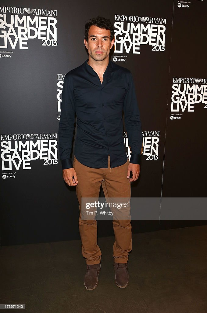 Tom Cullen attends Emporio Armani's Summer Garden Live 2013 on July 16, 2013 in London, England.>>