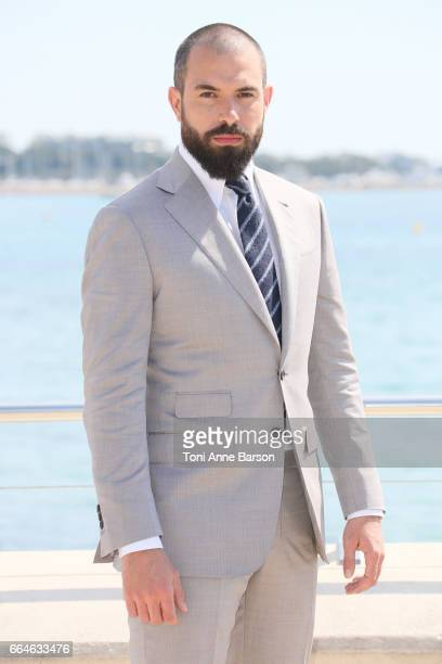Tom Cullen attends 'Knightfall' photocall during MIPTV 2017 on April 4 2017 in Cannes France