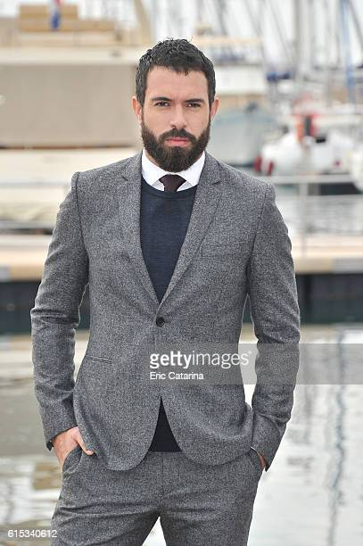 Tom Cullen attends the Knightfall photocall during MIPCOM 2016 at Palais des Festivals on October 17 2016 in Cannes France