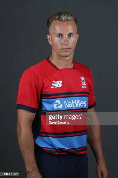 Tom Curran of England poses for a portrait ahead of the Twenty20 International between England and South Africa at Ageas Bowl on June 20 2017 in...