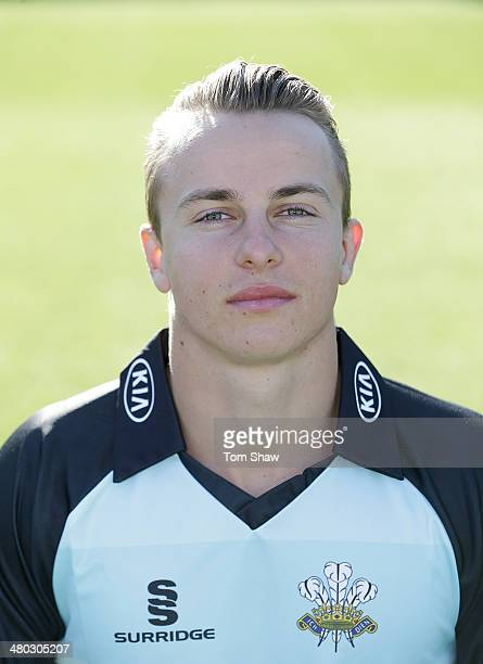 Tom Curran of Surrey poses for a portrait during the Surrey CCC photocall at The Kia Oval on March 24 2014 in London England