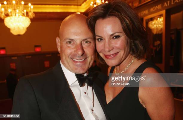 Tom D'Agostino and wife Luann de Lesseps pose at the Opening Night of 'Sunset Boulevard'on Broadway at The Palace Theatre on February 9 2017 in New...
