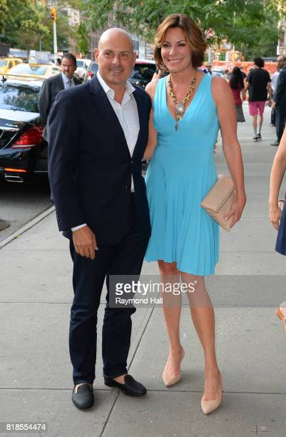 Tom D'Agostino Jr and LuAnn de Lesseps are seen in Soho on July 18 2017 in New York City