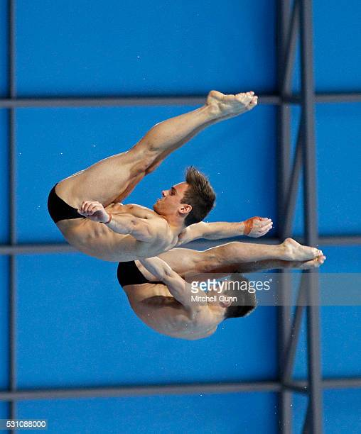 Tom Daley and Daniel Goodfellow of Great Britain competes in The Men's 10m Synchro Final on day four of the LEN European Swimming Championships at...