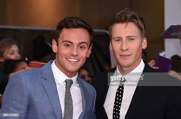 Tom Daley and Dustin Lance Black attend the Pride of Britain awards at The Grosvenor House Hotel on September 28 2015 in London England