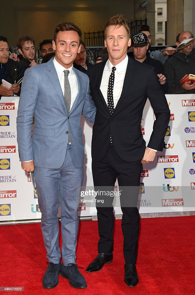 Tom Daley and Dustin Lance Black attend the Pride of Britain awards at The Grosvenor House Hotel on September 28, 2015 in London, England.