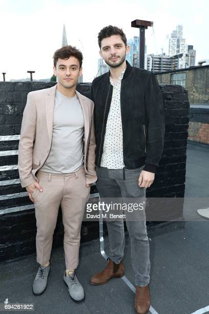 Tom Daley and Michael Fox attend 'TOPMAN DESIGN Presents Transition' for LFWM at The Truman Brewery on June 9 2017 in London England