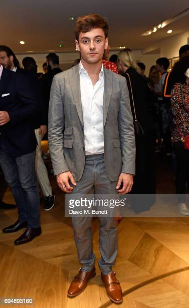 Tom Daley attends the Aston Martin x Hogan London Fashion Week Men's Cocktail in partnership with GQ Style on June 11 2017 in London England