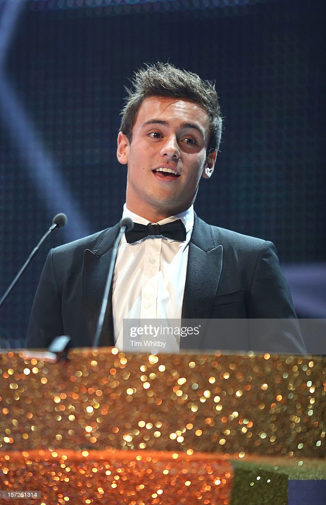 <a gi-track='captionPersonalityLinkClicked' href=/galleries/search?phrase=Tom+Daley+-+Diver&family=editorial&specificpeople=2652461 ng-click='$event.stopPropagation()'>Tom Daley</a> attends the British Olympic Ball at the Grosvenor Hotel on November 30, 2012 in London, England.