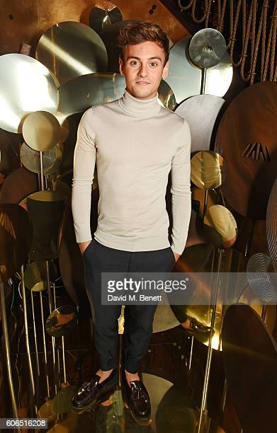 Tom Daley attends the Farfetch LFW event hosted by william at Loulou's on September 16 2016 in London England