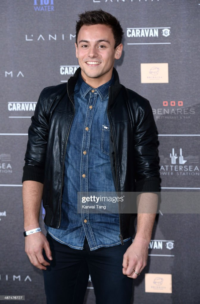 <a gi-track='captionPersonalityLinkClicked' href=/galleries/search?phrase=Tom+Daley&family=editorial&specificpeople=2652461 ng-click='$event.stopPropagation()'>Tom Daley</a> attends the inaugural Battersea Power Station annual party held at Battersea Power station on April 30, 2014 in London, England.