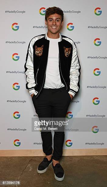 Tom Daley attends the launch of Google's new phone 'Pixel' with an exclusive live performance from Craig David in front of a starstudded audience on...