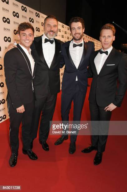 Tom Daley David Walliams Jack Whitehall and Dustin Lance Black attend the GQ Men Of The Year Awards at the Tate Modern on September 5 2017 in London...